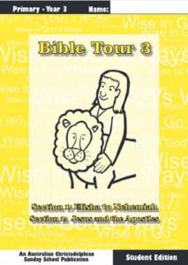Bible Tour 3, Student Book